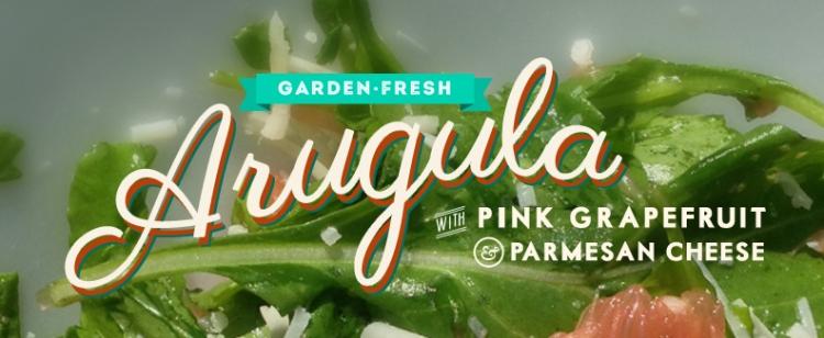 Arugula with Pink Grapefruit & Parmesan Cheese | thecrunchyurbanite.com