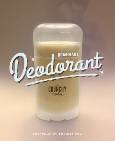 Easy-to-make Homemade Deodorant that works! - thecrunchyurbanite.com