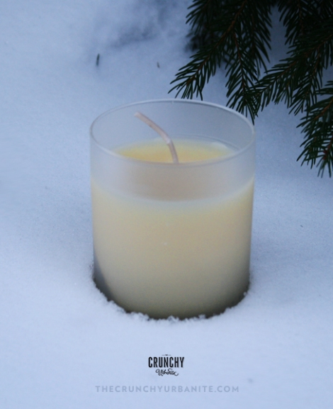 Pine-Scented Beeswax Candle | thecrunchyurbanite.com — Make your own all-natural beeswax candles with essential oils!