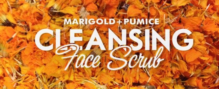 Marigold-Pumice Cleansing Face Scrub | thecrunchyurbanite.com